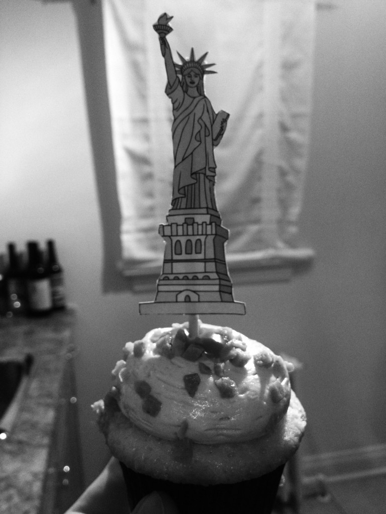 NYC birthday cupcakes